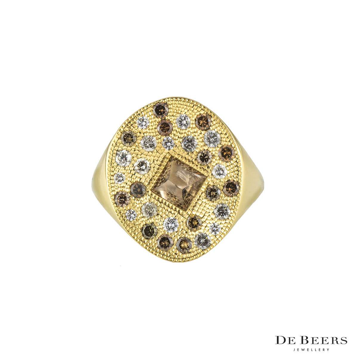 De Beers 18k Yellow Gold Talisman Ring